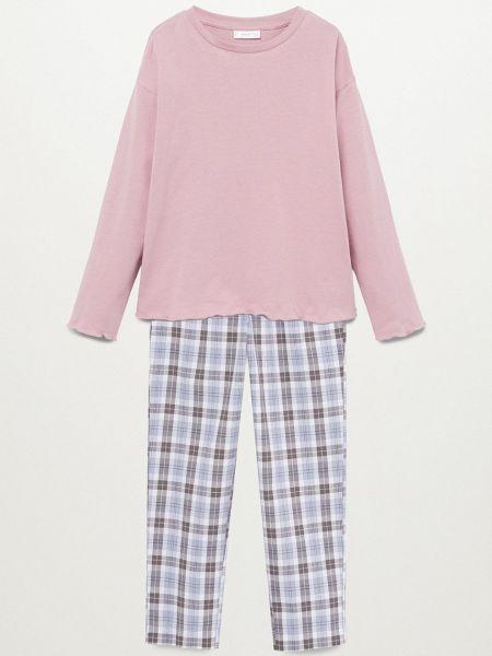 Хлопковая пижама - розовая Mango Kids