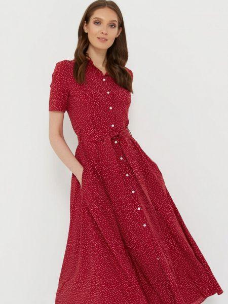 Бордовое платье A.karina