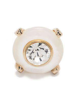 Брошь золотая круглая металлическая Dsquared2