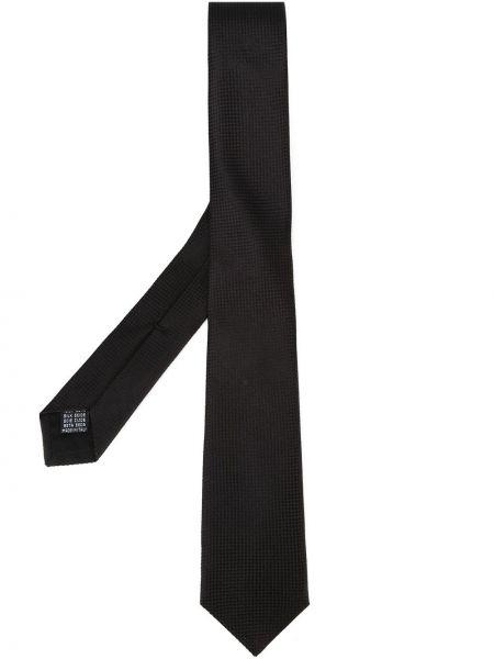 Jedwab czarny krawat Fashion Clinic Timeless