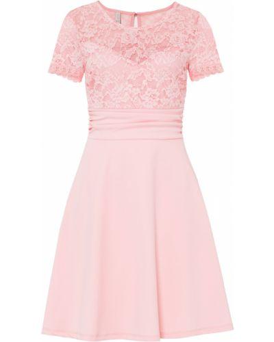 Розовое кружевное свадебное платье Bonprix