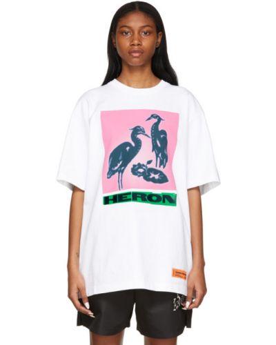 Bawełna bawełna z rękawami czarny t-shirt Heron Preston