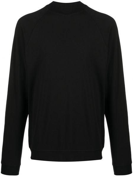 Czarna bluza z długimi rękawami bawełniana Lemaire