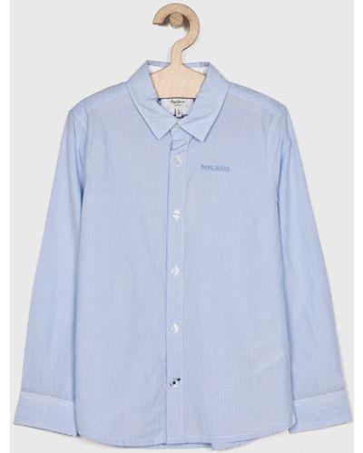 Рубашка с узором синий Pepe Jeans