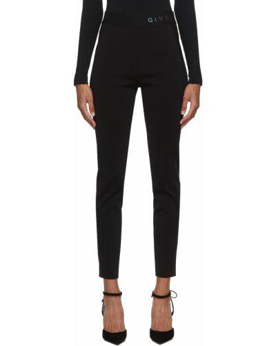 Черные трикотажные леггинсы Givenchy