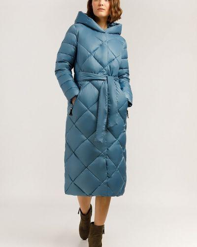 Пальто с поясом - голубое Finn Flare
