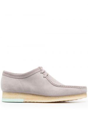 Серые замшевые туфли квадратные Clarks Originals