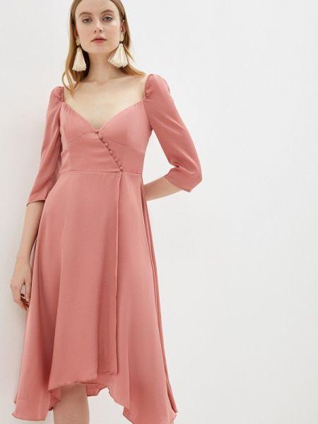 Вечернее платье розовое весеннее Little Mistress