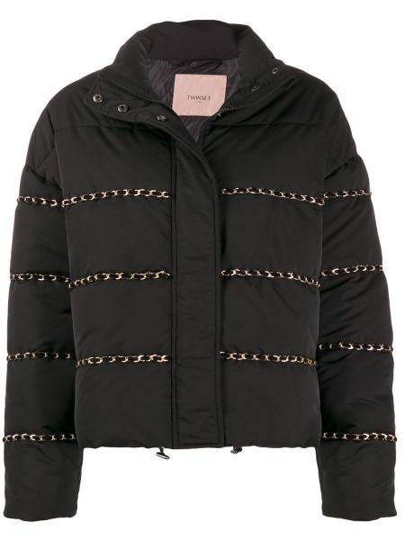 Куртка черная на молнии Twin-set