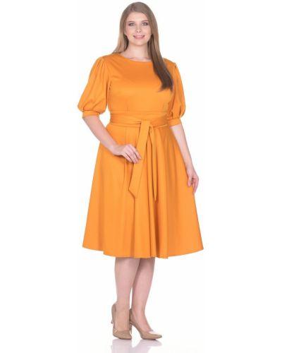 С рукавами трикотажное платье с поясом Rosa Blanco