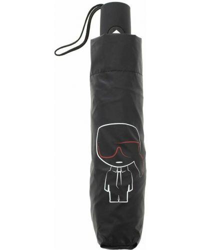Czarny parasol Karl Lagerfeld