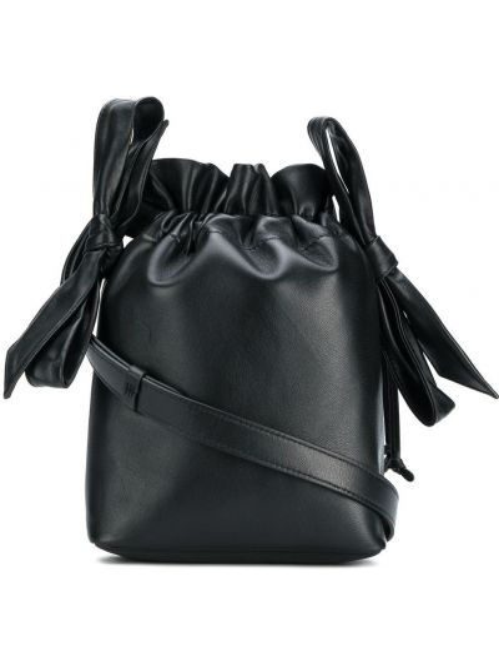 Czarna torebka skórzana Simone Rocha