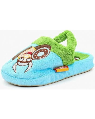 Тапочки искусственный голубой Dream Feet
