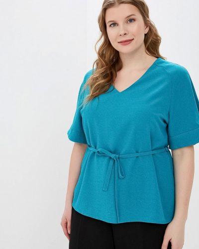 Блузка с коротким рукавом бирюзовая Grafinia