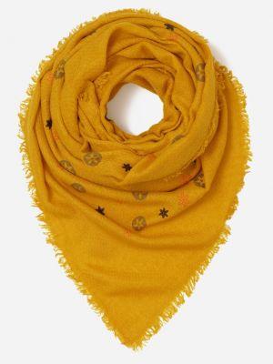 Żółty szalik materiałowy Renee