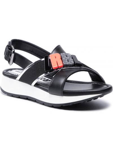 Czarne sandały casual Loriblu