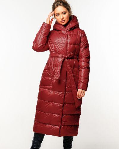 Пальто на кнопках - бордовое Nui Very