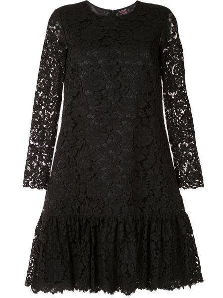 Платье макси с длинными рукавами - черное Adam Lippes