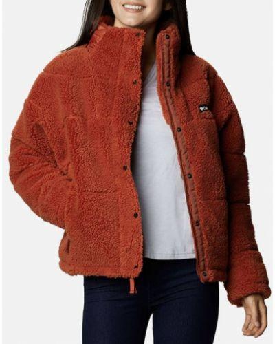 Флисовая красная куртка Columbia