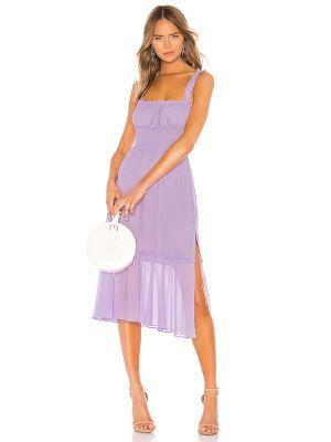 Sukienka midi z szyfonu - fioletowa Lovers + Friends