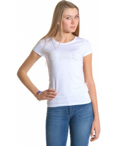 Белая футболка хлопковая Gas