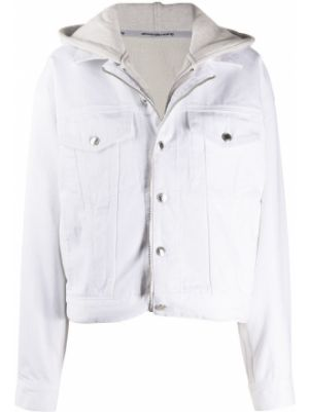 Куртка с капюшоном джинсовая на молнии Alexander Wang