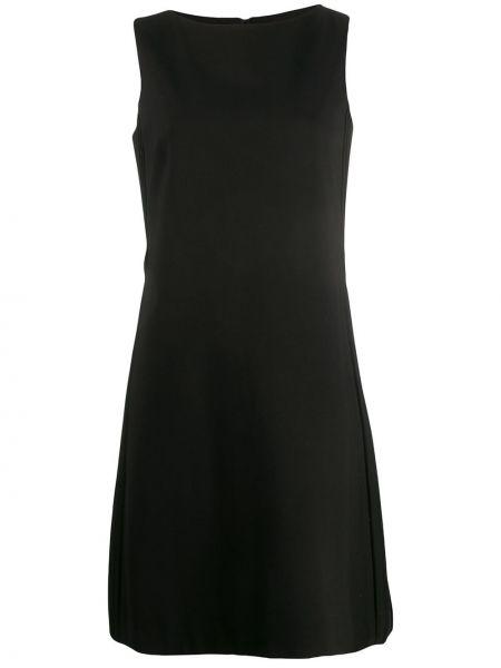 Шелковое черное платье мини с вырезом на молнии Dorothee Schumacher