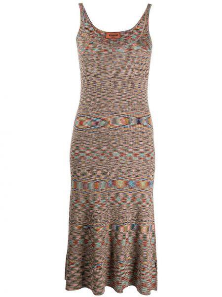 Платье миди с абстрактным принтом приталенное Missoni