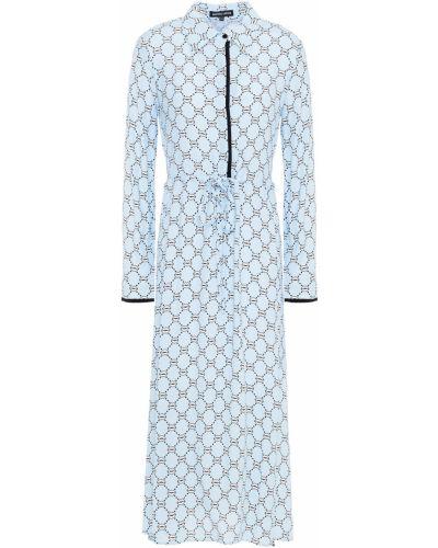 Платье миди на пуговицах - синее Markus Lupfer