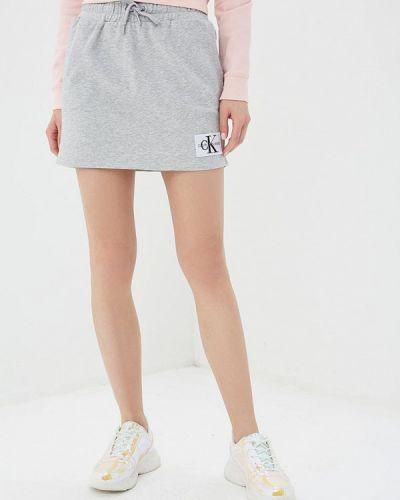 Юбка карандаш весенняя серая Calvin Klein Jeans