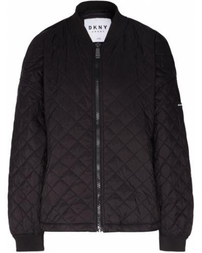 Стеганая куртка черная нейлоновая Dkny
