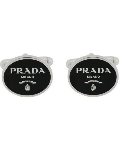 Запонки черные Prada