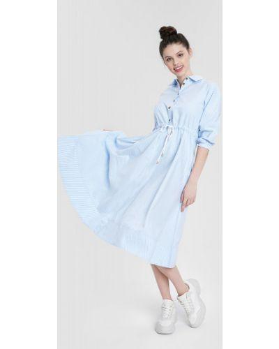 Белое платье миди с поясом свободного кроя Ostin