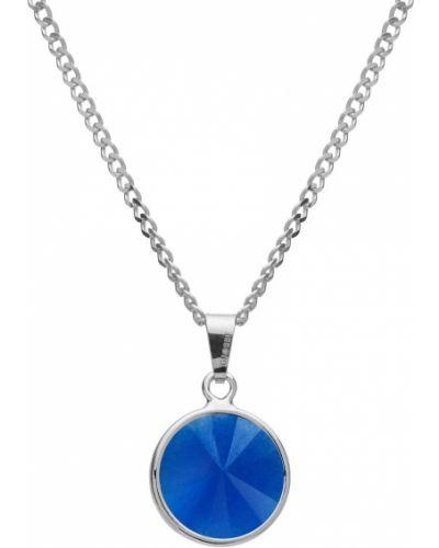 Niebieski naszyjnik srebrny Giorre