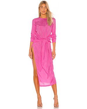 Платье с поясом на молнии из вискозы Atoir