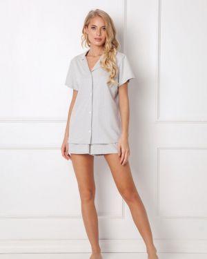 Szara piżama bawełniana Aruelle