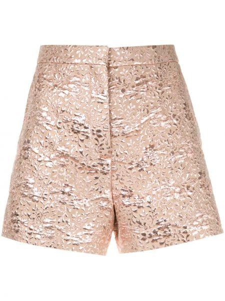 Розовые шорты с карманами на пуговицах Rochas