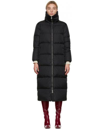 Czarny płaszcz pikowany z nylonu Duvetica