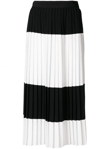 Плиссированная черная плиссированная юбка Mantu