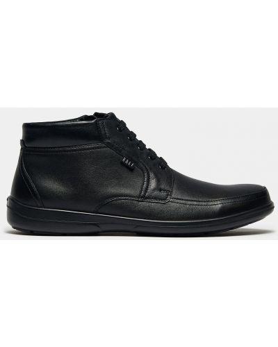 Черные кожаные ботинки на шнуровке Ralf Ringer