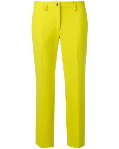Желтые укороченные брюки с поясом Versace Collection