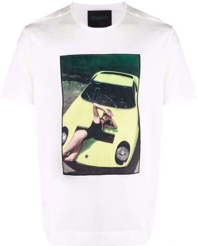 Biały t-shirt z printem bawełniany Limitato
