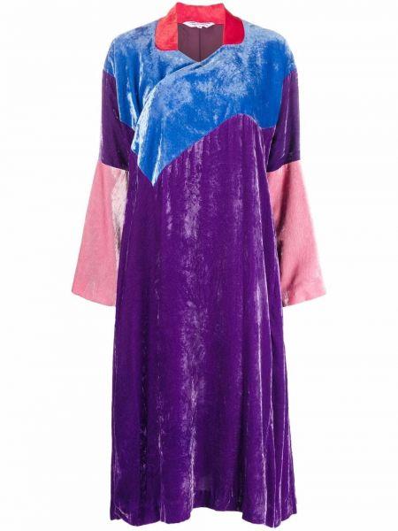 Бархатное платье миди - фиолетовое Comme Des Garçons Comme Des Garçons