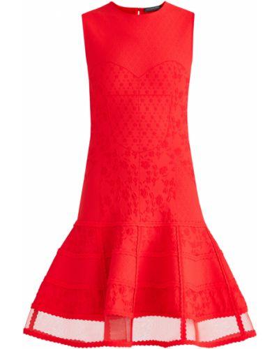 Платье мини с цветочным принтом прямое Alexander Mcqueen