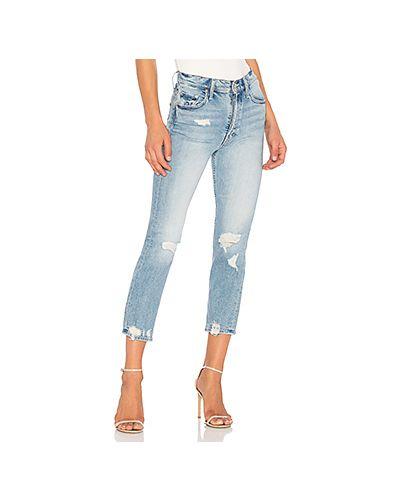 Прямые джинсы рваные винтажные Mother