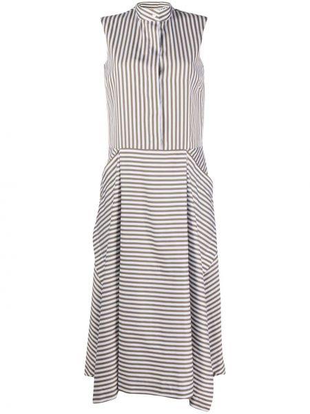 Шелковое платье макси - белое Mulberry