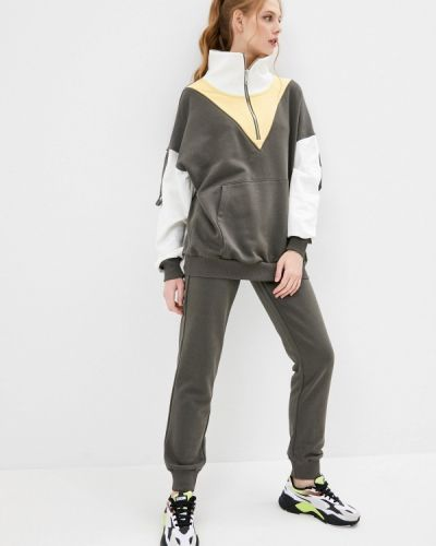 Костюмный спортивный костюм хаки Sitlly