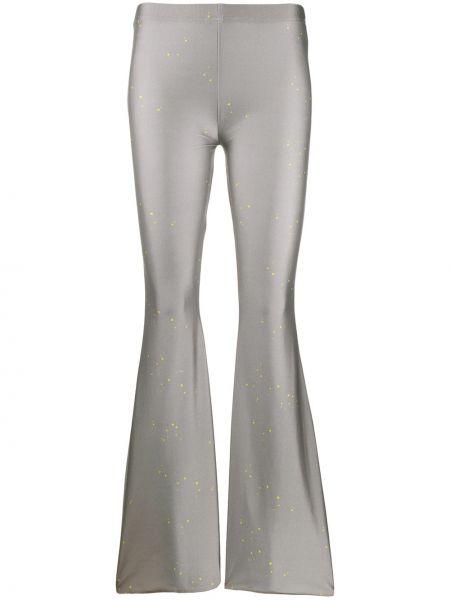 Серые расклешенные брюки с поясом Barbara Bologna