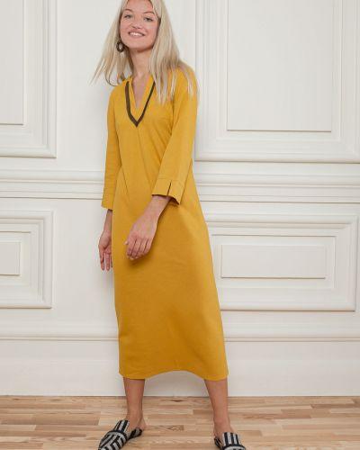 Льняное платье - желтое Dolcedonna