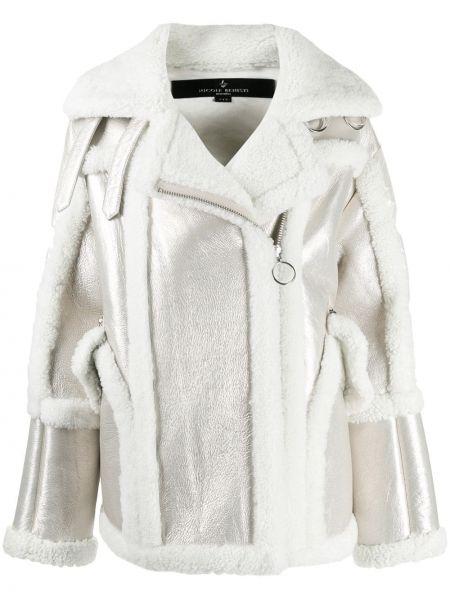 Белая свободная нейлоновая куртка на молнии Nicole Benisti
